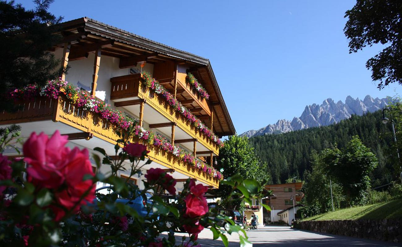 The exterior of the Hotel Lindenhof in San Candido