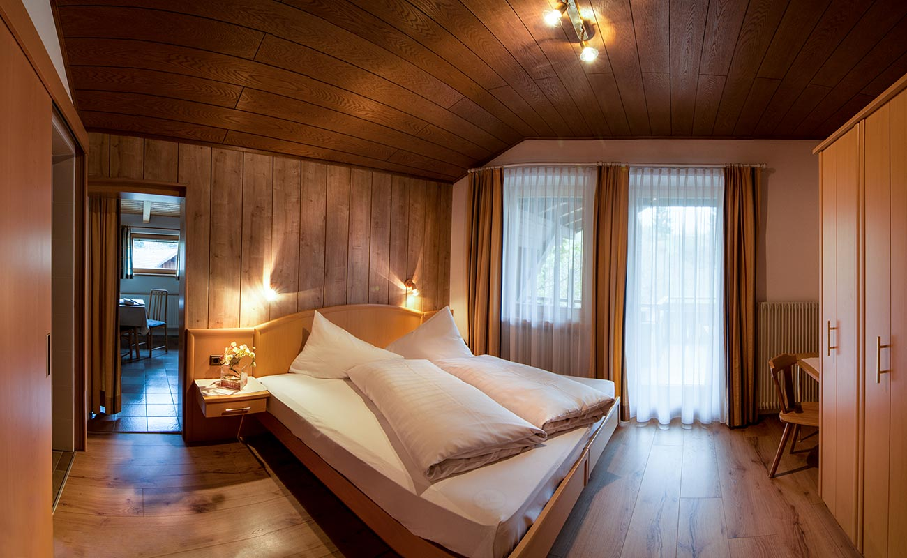 Family Suite of Hotel Lindenhof with wooden furniture